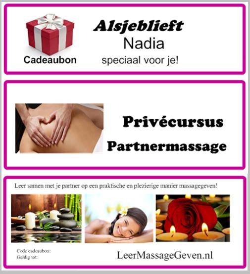 Cadeaubon Massage Cursus